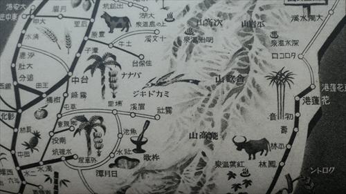 古地図,台湾,台中州,花蓮港,水牛,日本統治時代,台湾レトロ,もっと知りたい台湾