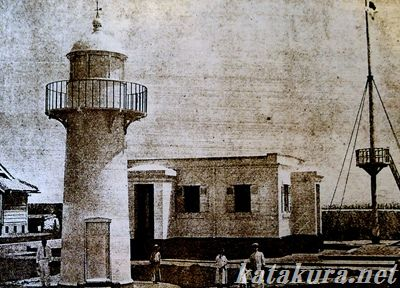 魚翁島,灯台,燈塔,西嶼,澎湖,澎湖島大観,古写真