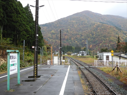 和賀仙人駅,北上線,紅葉