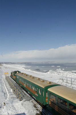 北浜,ノロッコ,流氷