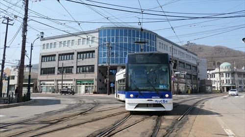函館市電,十字街電停,らっくる号,路面電車