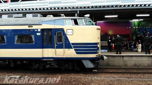 583系,秋田駅,ラストラン,2017年4月8日
