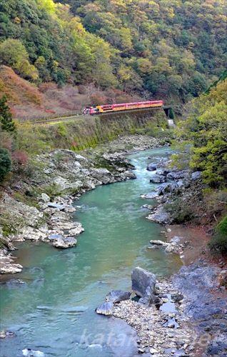 保津峡,2015年,嵯峨野観光鉄道