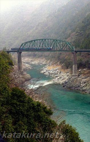 南風,祖谷渓,四国,土讃線