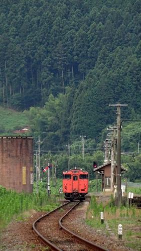 篠目駅,C57,試運転,山口線,蒸気機関車