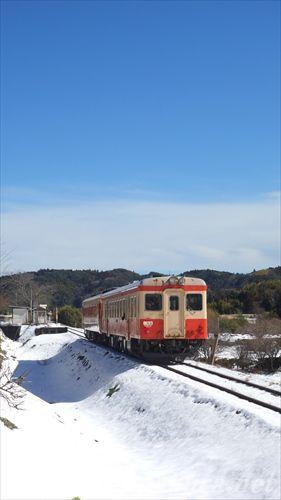 総元,いすみ鉄道,雪景色,キハ52