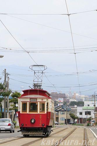 函館,レトロ電車