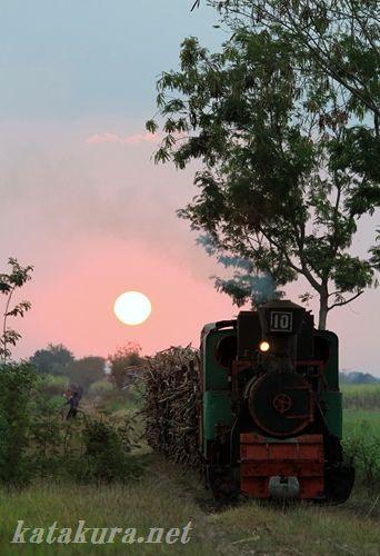 ジャワ,SL,夕陽,loco,インドネシア
