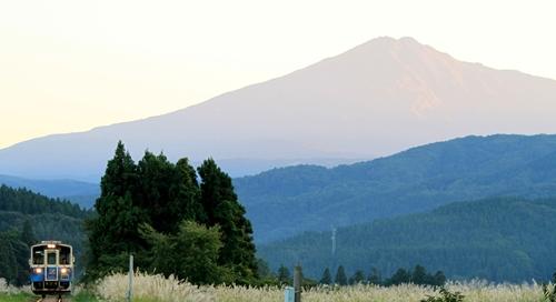 由利高原鉄道,矢島線,鳥海山