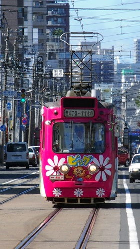 札幌市電,旧型電車,路面電車,吊り掛け