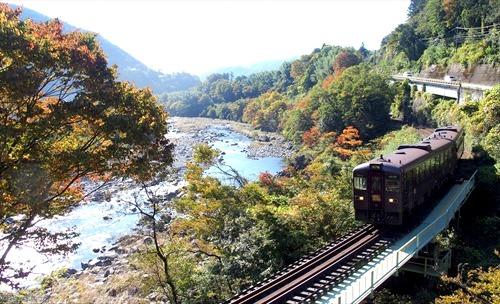 わたらせ渓谷鉄道,足尾線,紅葉