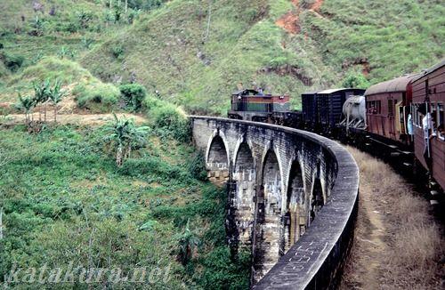 スリランカ,高原列車,鉄道