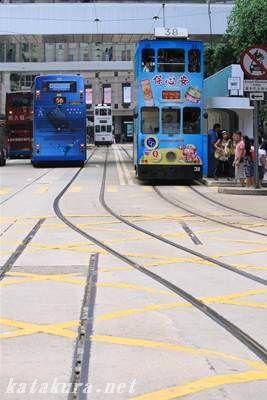 中環,トラム,香港