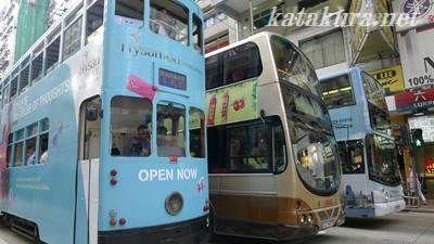 香港,トラム,路面電車