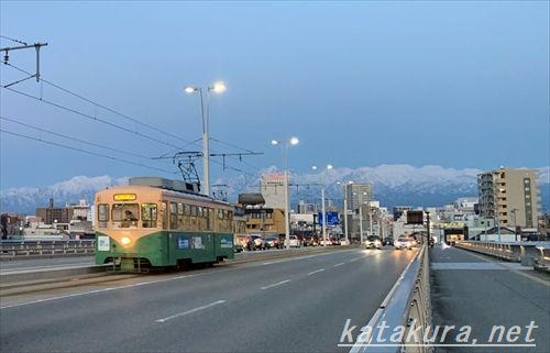 TOYAMA,富山市内線,富山路面電車,立山連峰