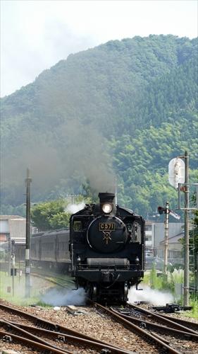 津和野駅,tsuwano,SLやまぐち,試運転,C57