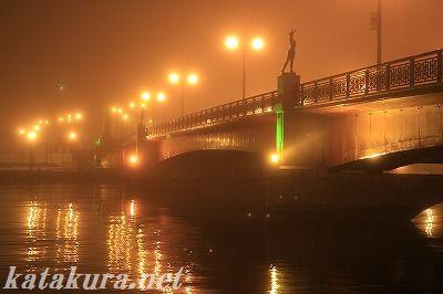 釧路,幣舞橋,霧