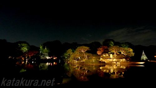 六義園,紅葉,駒込,2012年,ライトアップ