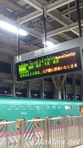 はやぶさ34号,東北新幹線,新青森駅
