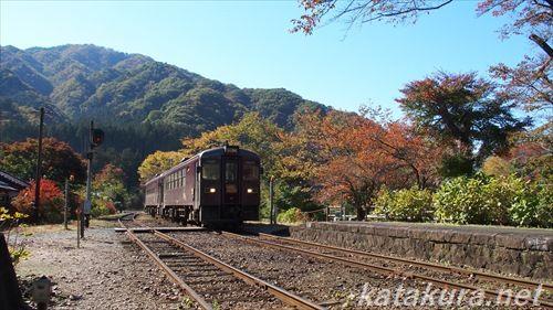 souri,沢入,わたらせ渓谷鉄道,足尾線,紅葉