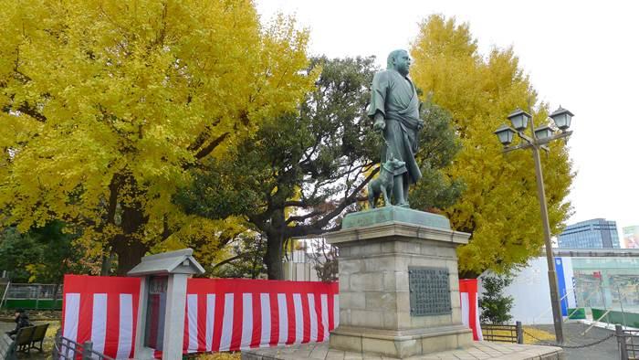 西郷隆盛,上野,銀杏