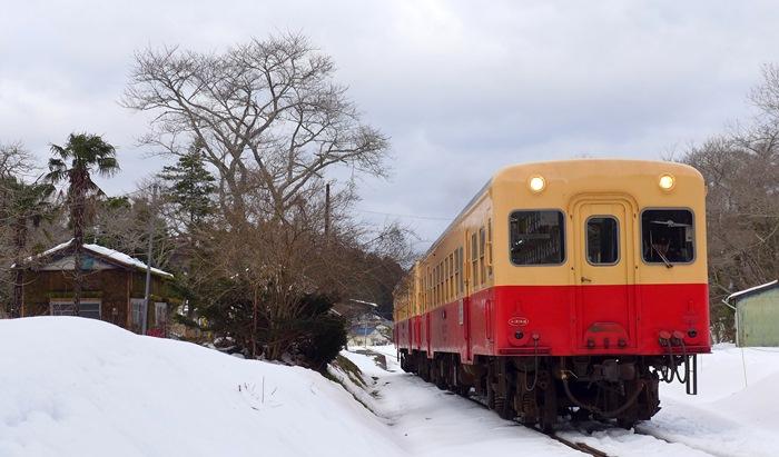 小湊鐵道,撮影地,月崎駅,気動車,雪