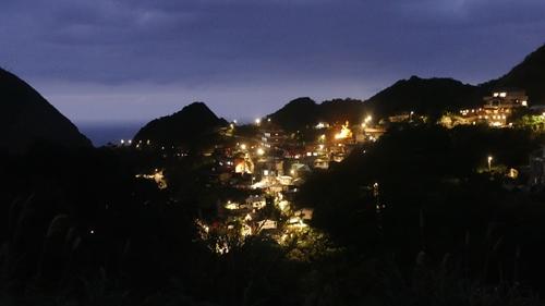 金瓜石,夜景,九份,新北市,黄金博物館